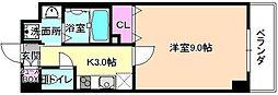 仮称)伊加賀東町PJ 3階1Kの間取り
