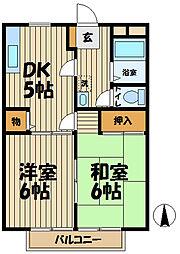 ソシア 西館[2階]の間取り