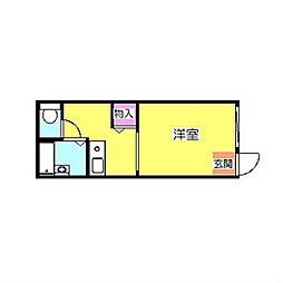 シダークレスト[1階]の間取り