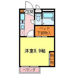 兵庫県伊丹市桑津3丁目の賃貸アパートの間取り