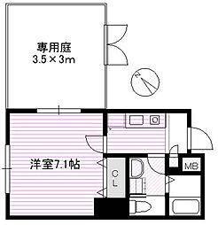 スプリーム月島2[1階]の間取り