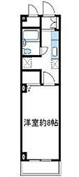 神奈川県伊勢原市東成瀬の賃貸マンションの間取り