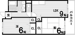 エスポワール・ダイエイ[6階]の間取り