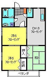 NAKII[205号室]の間取り
