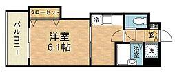 福岡県福岡市博多区博多駅南2の賃貸マンションの間取り