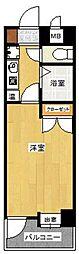 パンルネックスディア室見2[4階]の間取り