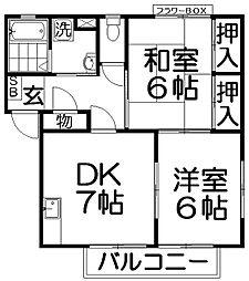 ミモザムラタ[2階]の間取り