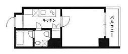 スカイコート浜松町壱番館 10階1Kの間取り