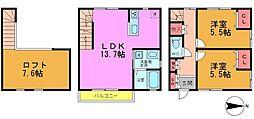 [テラスハウス] 千葉県市川市国分2丁目 の賃貸【千葉県 / 市川市】の間取り