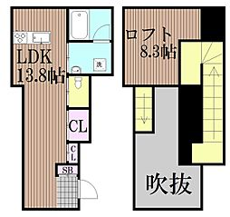 東京都品川区戸越3丁目の賃貸アパートの間取り