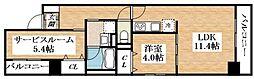 Osaka Metro谷町線 平野駅 徒歩6分の賃貸マンション 2階1SDKの間取り