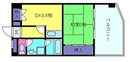 兵庫県芦屋市業平町の賃貸マンションの間取り