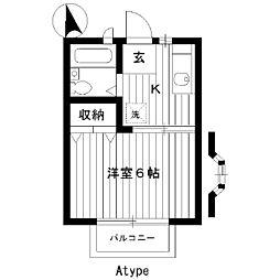 東京都練馬区向山2丁目の賃貸アパートの間取り