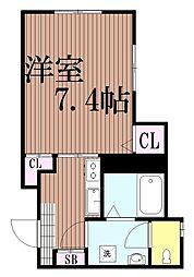 東京都大田区大森東2丁目の賃貸アパートの間取り