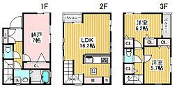 [一戸建] 東京都渋谷区本町2丁目 の賃貸【/】の間取り