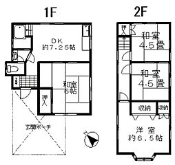 [一戸建] 埼玉県鴻巣市小松3丁目 の賃貸【/】の間取り