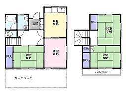 [一戸建] 千葉県鎌ケ谷市中沢新町 の賃貸【/】の間取り