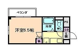ドミール京町堀[4階]の間取り