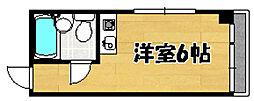 阪急京都本線 上新庄駅 徒歩18分の賃貸マンション 3階ワンルームの間取り