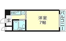 クリスタルコート66[4階]の間取り