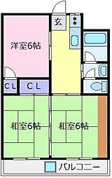 北野田マンション[4階]の間取り