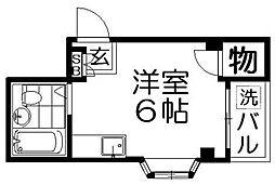 シティーハイツ萱島[3階]の間取り