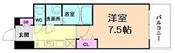Luxe新大阪V 15階1Kの間取り