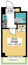 クレアトゥール新宿21[1階]の間取り