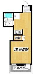 西村アパートメント[203号室]の間取り
