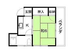 栗原ビル[2階]の間取り