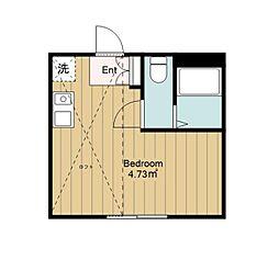 神奈川県大和市鶴間1丁目の賃貸アパートの間取り