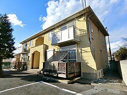栃木県宇都宮市細谷町の賃貸アパートの外観