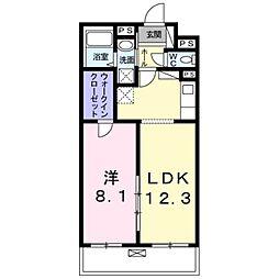 JR総武線 小岩駅 徒歩22分の賃貸マンション 3階1LDKの間取り