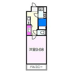 JR阪和線 三国ヶ丘駅 徒歩4分の賃貸マンション 3階1Kの間取り