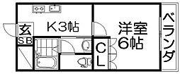 ラカシタ[1階]の間取り