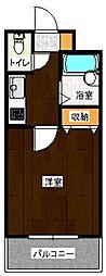 ユートピア原田弐番館[501号室]の間取り