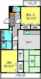 神奈川県川崎市幸区小倉2丁目の賃貸マンションの間取り
