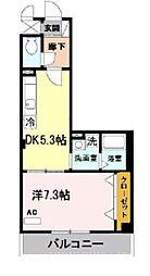 メゾンバイタル C棟 4階1DKの間取り
