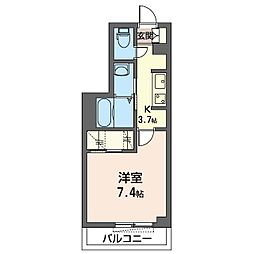 仮)千葉市若葉区小倉台シャーメゾン 3階1Kの間取り