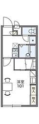 レオパレスヴィラフルール[2階]の間取り