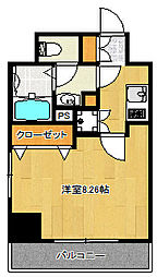 東京都北区田端新町3丁目の賃貸マンションの間取り