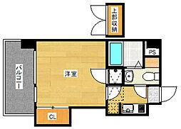 エステート・モア・博多グランB棟[2階]の間取り