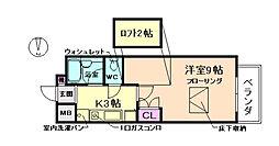 大阪府豊中市少路1丁目の賃貸マンションの間取り