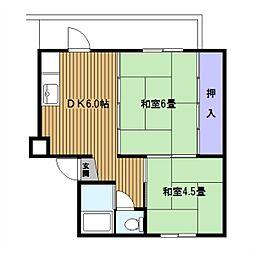 東本郷[2階]の間取り