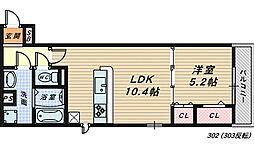 イズミ金岡[3階]の間取り