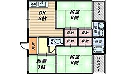 大阪府和泉市葛の葉町2丁目の賃貸マンションの間取り