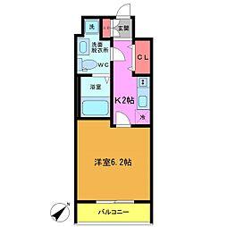 フォセット南行徳[4階]の間取り