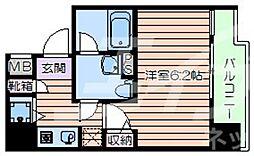 Osaka Metro千日前線 桜川駅 徒歩1分の賃貸マンション 10階1Kの間取り