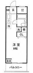 上野永谷タウンプラザ[710号室]の間取り