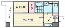 グランフォーレ箱崎ステーションプラザ[1302号室]の間取り